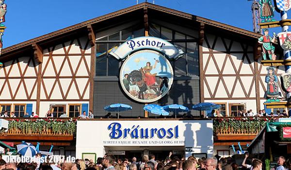 Zelte Zum Oktoberfest : Bräurosl pschorr festzelt zelte oktoberfest tische