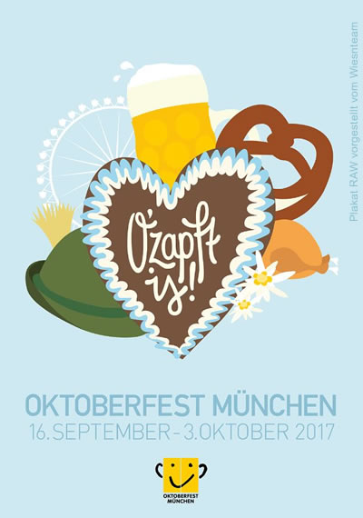 Oktoberfestplakat 2017 - Wiesn Plakat München - The official poster of the Munich Beerfestival